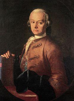 """Leopoldo Mozart, padre de W. Amadeus, fue iniciado en la logia de su hijo en abril de 1785. El 26 de marzo de 1785 con motivo de la ceremonia del paso de Leopoldo al grado de Compa?ero, Amadeus compuso la ?Canci?n para el viaje del compañero; A ti que accedes al nuevo Grado"""""""