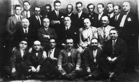 Diego Martínez Barrio con un grupo de Hermanos masones (1930)