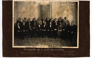 El Gran MaestreDiego Martínez Barrioenla XII Asamblea del Gran Oriente Español(Barcelona , 1933)