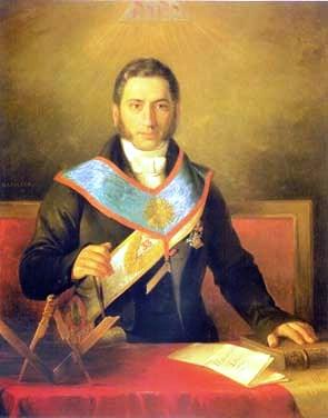 Pierre-Théodore Verhaegen (1796, Bruselas-1862, Bruselas), Presidente del Congreso de los Diputados de Bélgica, fundador y primer Rector de la Universidad Libre de Bruselas. Miembro de la logia Les Amics Filantrops y Gran Maestre del Gran Oriente de Bélgica de 1854 a 1862.