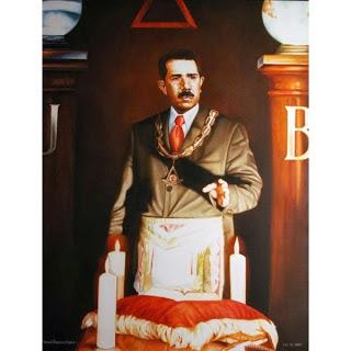Lázaro Cárdenas con Decoraciones Masónicas