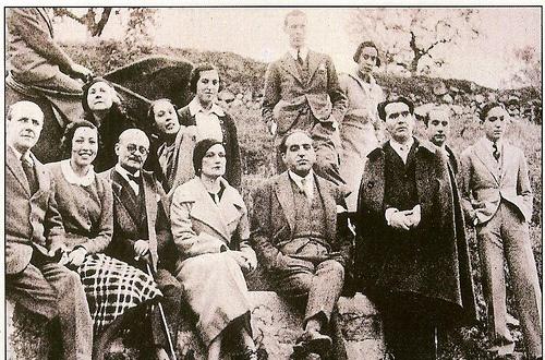 El Hermano Gustavo Pittaluga con Gregorio Marañón, García Lorca y otros amigos en Toledo
