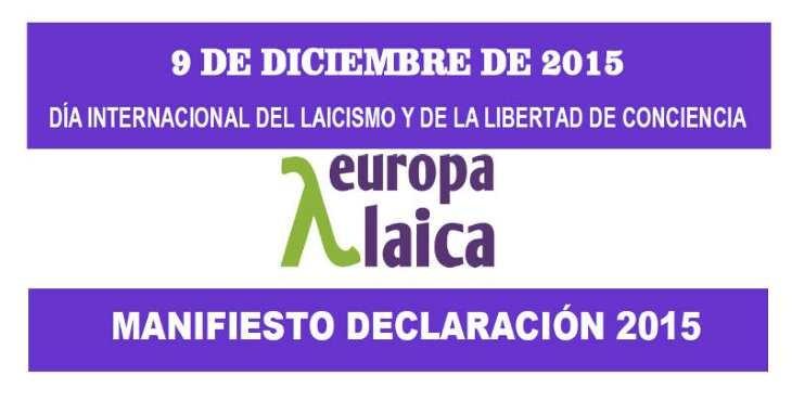 Día Internacional del Laicismo y de la Libertad de Conciencia 2015