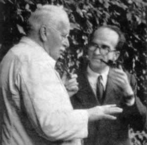 Mircea Eliade y Karl Gustav Jung en Ascona en 1952