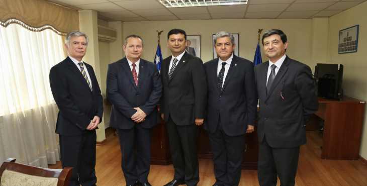 Masonería talquina visita a nuevo jefe regional de la PDI