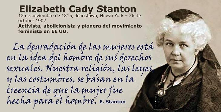 Efemérides: Elizabeth Cady Stanton