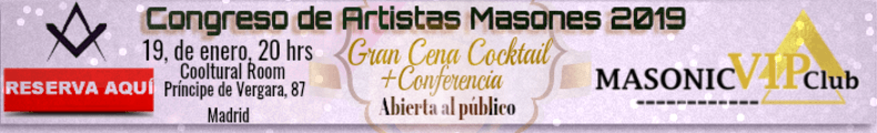 Reserva tu cena en el Congreso de Artistas Masones 2019